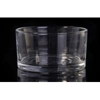 Buy cheap Clear Glass Tealight Candle Holders , Short Round Glass Candle Holders 195 Ml Capacity from wholesalers