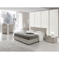 Buy cheap European High Gloss Bedroom Furniture With Khaki Storage Bedroom Set product