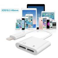 Buy cheap White Iphone 7 Charger Headphone Adapter Charging And Play Music Support from wholesalers