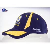 Breathable 100% Polyester Woven Racing Baseball Caps With Flat Embroidery Logo