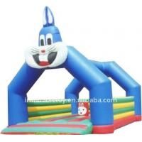 China blue cat inflatable bouncer house/moon walk on sale