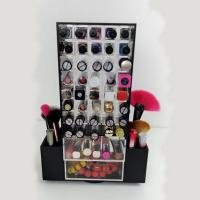 Buy cheap Acrylic Makeup Organizer for Brush Compartment Plexiglass Rotating Lipstick Display from wholesalers