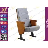 Buy cheap Heavy Duty Foldable Tablet Library Auditorium Chairs With Wooden Arm Surface Finish product
