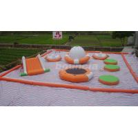 Buy cheap 0.9mm PVC Tarpaulin Inflatable Water Park For Kids / Water Inflatable Park With Slide product