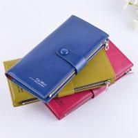 Buy cheap Female Genuine Leather Clutch Wallet Large Capacity With Zipper Buckle product