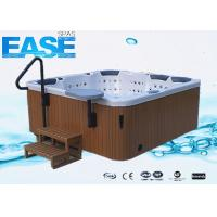 Buy cheap Luxury Rectangular Acrylic Whirlpool Massage Bathtub Outdoor Spa with 4 Seats + 3 Lounges product