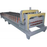 Buy cheap Double Press Step Roof Tile Roll Forming Machine Touch Screen , HRC 50 - 60 product