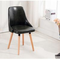 Buy cheap Velvet Cushion Backrest Stacking Wooden Dining Room Chairs product