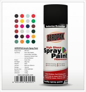Buy cheap Aeropak  aerosol can 400ml 10oz spray paint with all colors acrylic product