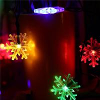 Buy cheap Snowflake Decorative String Lights , Warm Color Solar Led Christmas Tree Light product