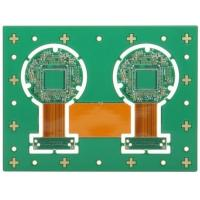 Buy cheap Four Layer Rigid Flexible PCB Printed Board Lead Free HASLSurface Finishing Green Solder Mask from wholesalers