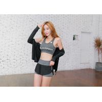 Buy cheap Grey Color Stretchy Sleeveless Sports Vests Comfortable For Yoga / Running product