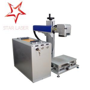 Buy cheap Blue 10W Fiber Laser Marking Machine, Pipe Laser Marking Engraving Machine product
