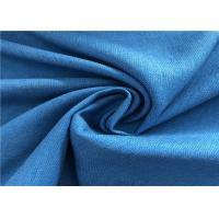 Buy cheap Blue Twill Fade Resistant Outdoor Fabric Good Color Fastness Breathable For Winter Coat product