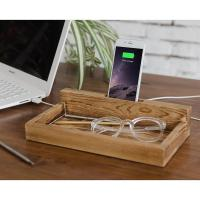 Modern Family Charging Station , Wood Docking Station For Iphone