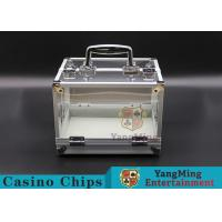 Buy cheap 600PCS Double Open Handle Texas Chip Box / Aluminum Alloy Frame High Transparency Chess Room product