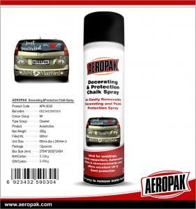 Buy cheap AEROPAK 500ML aerosol spray can Decorating and Protection Chalk Spray product