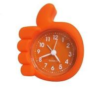 China Silicone Watch / Promotional Lovely Kid's Mini Quartz Silicone Table Alarm Clock on sale