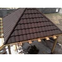 China Economic 30 years guarantee stone chip coated steel roof tiles on sale