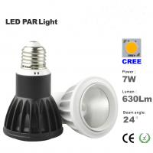 China 7W LED Par20 light CREE LED Bulbs Beam angle 24 or 36 degree E27 base Spotlight on sale