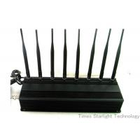 Buy cheap 8 Antennas 4G GPS WiFi Cellphone Jammer / UHF VHF Lojack Cellular Signal Blocker product