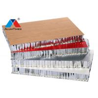 Buy cheap Wood Laminated Alu Honeycomb Panels Durable For High - Speed Rail / Vessel product