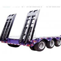 Buy cheap Cancave Platform Low Bed Semi Trailer Mechanical Suspension 16000*1664*3200 Mm product