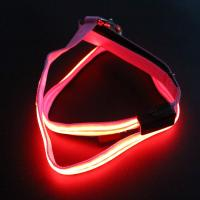 Buy cheap Double Optical Fiber LED Light Up Dog Leash 2 Lighting Modes With Flashlight from wholesalers