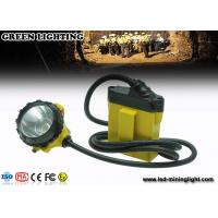 Buy cheap Black Small Size Led Cable Manual Mining Cap Lights 25000 Lux Brightness from wholesalers