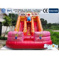 China Cartoon Inflatable Water Slip Slide Pool With Climber for Rental on sale