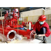 Buy cheap UL / FM Approved Multistage Diesel Engine Driven Fire Water Pump Set With 750 US GPM product