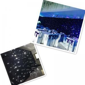 Buy cheap Wholesale Sky light drape led light black curtain led stage backdrop cloth from wholesalers