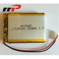 Buy cheap 3.7V 904060 2400mAh 3.7 V Li-Poly Rechargeable Battery Pack Seiko PCM IEC62133 product