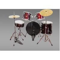 Buy cheap New Drum Set Red  5-Piece Complete Full Size with Cymbals Stands Stool Sticks product