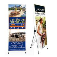 Buy cheap Advertising x banner standing banner promotional display economic printing x-banner product
