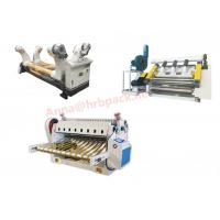 Buy cheap 2 Layer Corrugated Paperboard Single Facer Line For Carton Box Packaging product