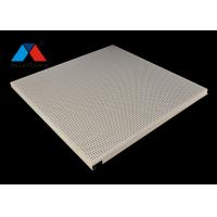 Quality Hook on Punching Aluminum Ceiling Panel System Anti Wind Perforated Ceiling for sale