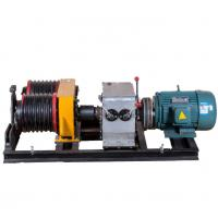 Buy cheap Safe 5 Ton  Double Drum Electric Cable Pulling Winch Machine for Power Construction product