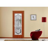 Buy cheap Arctic Patterned Window Door Suit Decorative Frosted Glass Brass / Nickel / Patina Available product