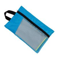 China Sun Shine Fast Drying Digital Printed Microfiber Sport Travel Towel With Pocket Mesh Bag on sale