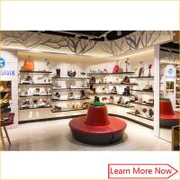 Buy cheap Fashion Designs Wood Shoe Rack Shelves Showcase with lighting decorated product