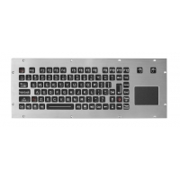 Buy cheap Rugged Marine Console PS2 USB Wired EMC Metal Keyboard product
