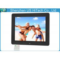 China Multi Function Slideshow 10.4 Inch LCD Digital Photo Frame Built In Stereo Speakers on sale