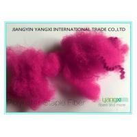 Buy cheap 1.5D  High Tenacity Staple Spinning Fiber With Fuxia Red Solution Dyed product