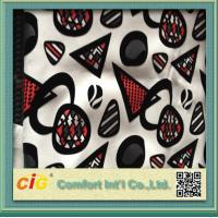 Buy cheap Funiture Print PU Synthetic Leather Fabric 0.8mm Flocking Design product