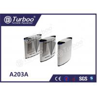 Acrylic Access Control Turnstile Gate , Flap Barrier Gate With Biometric Card Reader