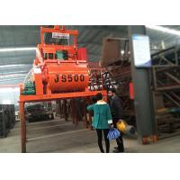 Buy cheap Double Horizontal Automatic Concrete Mixer Machine Twin Shaft JS500 High Intensity Mixing product