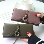 Metal Circle Belt Knot Womens Credit Card Holder Wallet , Multi Functional