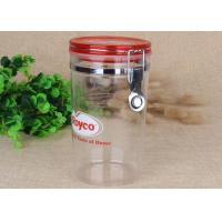 Buy cheap FDA Food Safety Transparent PS Spice Sealed Jars Stainless Steel Clip product