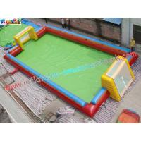 Buy cheap 16L x 8W x 1.8H Meter Large Blow up Football pitch Inflatable Sports Games Rental product